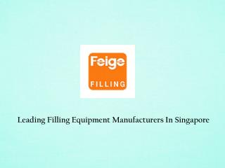 Filling Equipment Manufacturers