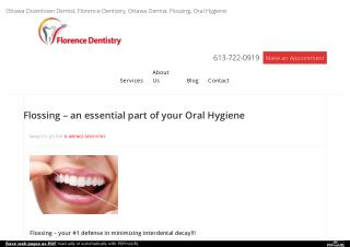 Flossing � an essential part of your Oral Hygiene