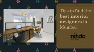 Tips to find the best interior designers in Mumbai