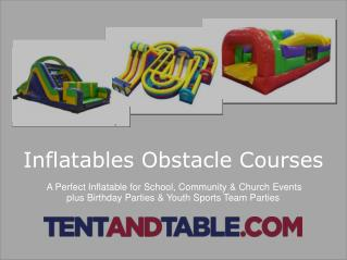 Inflatable Obstacle Courses - A Perfect for Party Rentals Business