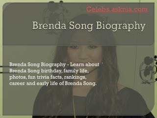 Brenda Song Biography | Biography of Brenda Song