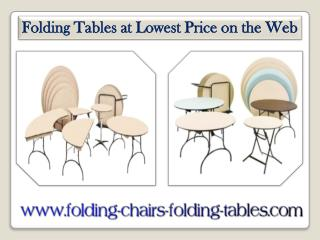 Folding Tables at Lowest Price on the Web