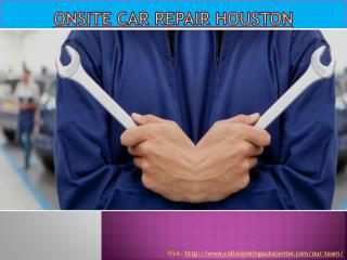 Onsite car repair Houston