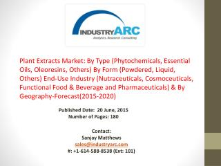 Plant Extracts Market: Asia Pacific is expected to witness  the maximum growth during 2015-2020