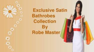 Latest Satin Bathrobes Collection For Bridesmaids