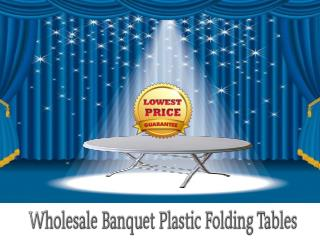 Wholesale Banquet Plastic Folding Tables