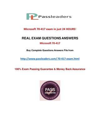 Passleader 70-417 Braindumps