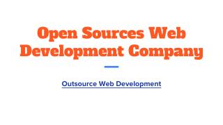 Open sources web development company india