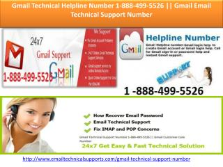 Gmail Technical Helpline Number 1-888-499-5526 || Gmail Email Technical Support Number