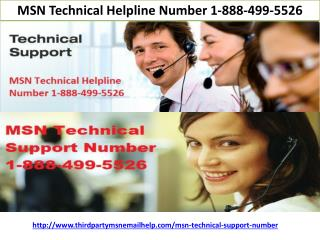 MSN Technical Helpline Number 1-888-499-5526 || MSN Technical Support Number