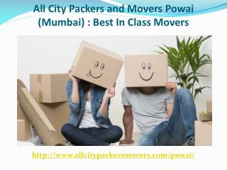 All City Packers and Movers Powai (Mumbai): Best in Class Movers