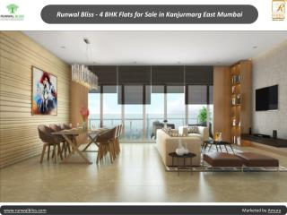 Runwal Bliss - 4 BHK Flats for Sale in Kanjurmarg East Mumbai