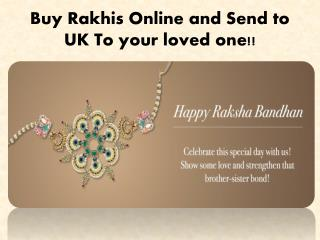 Celebrate this rakhi with erakhigifts.com by Send rakhi to UK