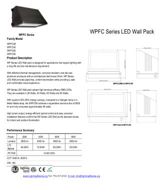 WPFC Series LED Wall Pack