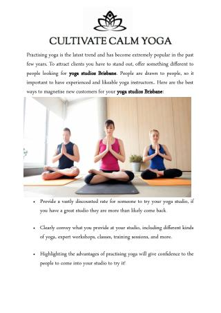 The Best Ways to Attract New Clients to Your Yoga Studios Brisbane
