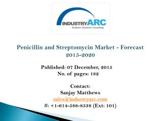 Penicillin and Streptomycin Market: North America leads the market with high market shares.