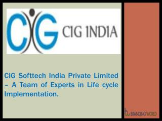 CIG Softtech India Private Limited � A Team of Experts in Life Cycle Implementation
