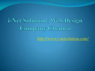 i-Net Solution, Web Design Company Chennai