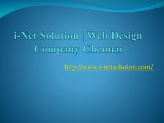 i-Net Solution, Web Design Company Chennai