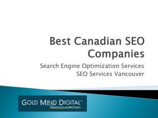 Best Canadian SEO Companies - Goldminddigital.com