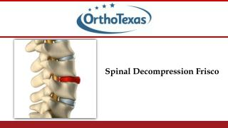 Spinal Decompression Frisco