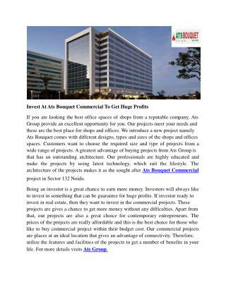 Invest At Ats Bouquet Commercial To Get Huge Profits