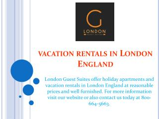 vacation rentals in london england