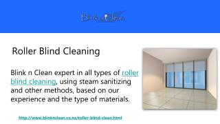 Roller Blind Cleaning by Blink n Clean