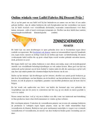 Online winkels voor Luifel Fabrics Bij Descent Prijs