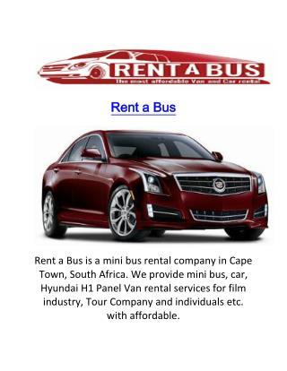 Cape Town Panel Van Rental