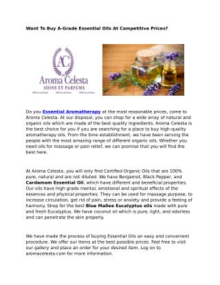 Essential Organic Oils