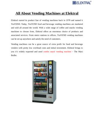 All About The Vending Machines at Elektral