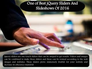 One of Best jQuery Sliders and Slideshows of 2016