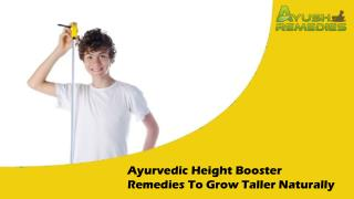 Ayurvedic Height Booster Remedies To Grow Taller Naturally