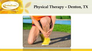 Physical Therapy – Denton, TX