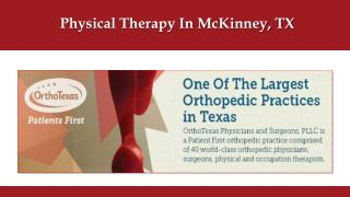 Physical Therapy In McKinney, TX