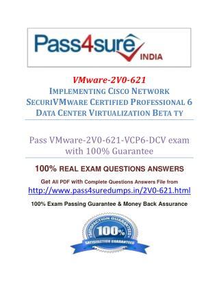 Pass4sure 2V0-621 Exam Question