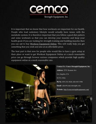Best workout equipments