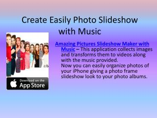 Photo Slideshow Maker with Music for iPhone