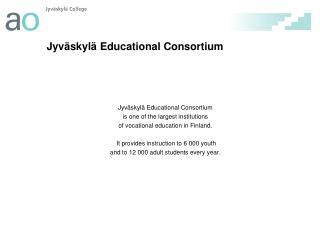 Jyv skyl  Educational Consortium