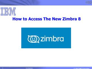 Guide to Zimbra 8