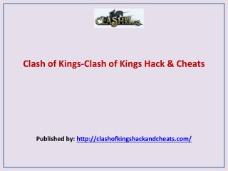 Clash of Kings Hack & Cheats