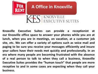 Knoxville Meeting Space Lease for Office purpose