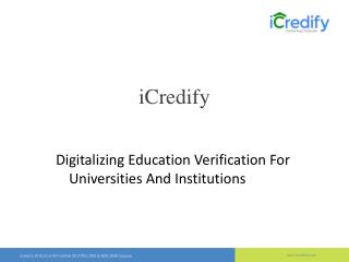 iCredify| University Verification | Education Verification Companies in Bangalore