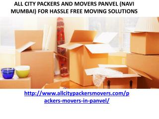 Packers and Movers in Panvel (Navi Mumbai)-All City Packers and Movers�