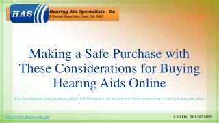 Making a Safe Purchase with These Considerations for Buying Hearing Aids Online