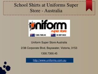 School Shirts at Uniforms Super Store – Australia