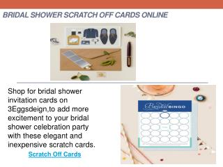 Bridal Shower Scratch Off Cards Online