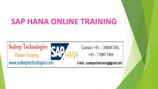 SAP HANA Online Training in Hyderabad|USA|UK|