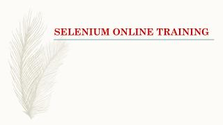 selenium training from INDIA|USA|UK.